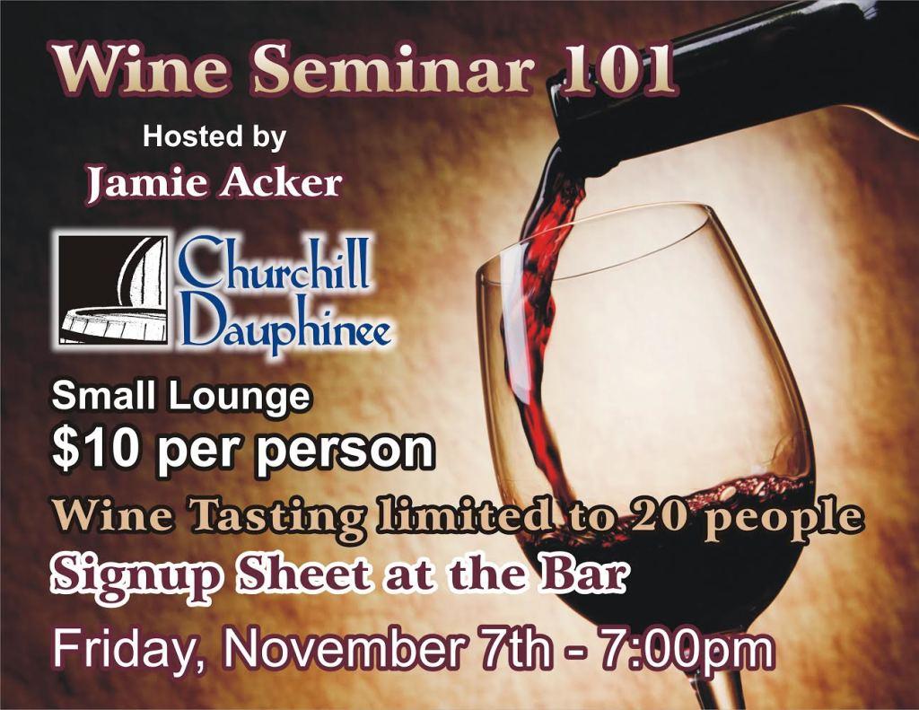 Wine Tasting Seminar 101