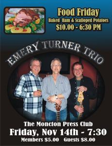 Baked Ham & Scalloped Potatoes plus Dance to Emery Turner Trio
